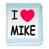 I heart Mike baby blanket