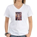 African Antelope 1 Women's V-Neck T-Shirt