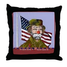 Emmett Kelly Throw Pillow