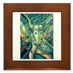 African Antelope Green Framed Tile