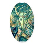 African Antelope Green Sticker (Oval 50 pk)