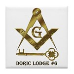 Doric Lodge #6 Tile Coaster