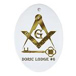Doric Lodge #6 Ornament (Oval)