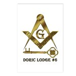 Doric Lodge #6 Postcards (Package of 8)
