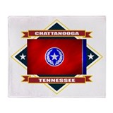 Chattanooga Flag Throw Blanket