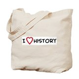 I Love History Tote Bag