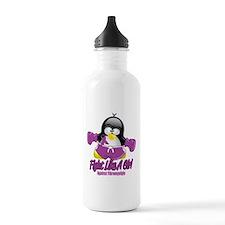 Fibromyalgia Fighting Penguin Sports Water Bottle