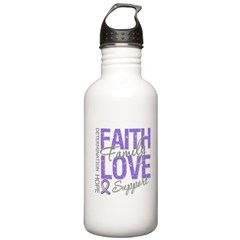 Faith Hodgkins Lymphoma Stainless Water Bottle 1.0
