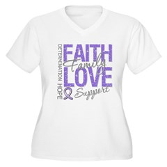 Faith Hodgkins Lymphoma Women's Plus Size V-Neck T