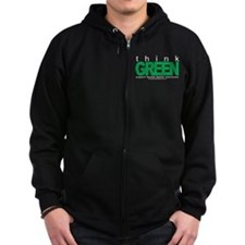 Think Green Mental Health Zip Hoodie