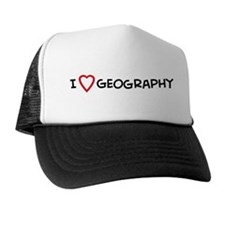 I Love Geography Trucker Hat
