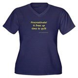 Procrastinate! It Frees Up Ti Women's Plus Size V-
