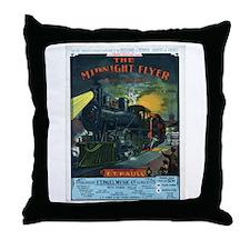 The Midnight Flyer Throw Pillow
