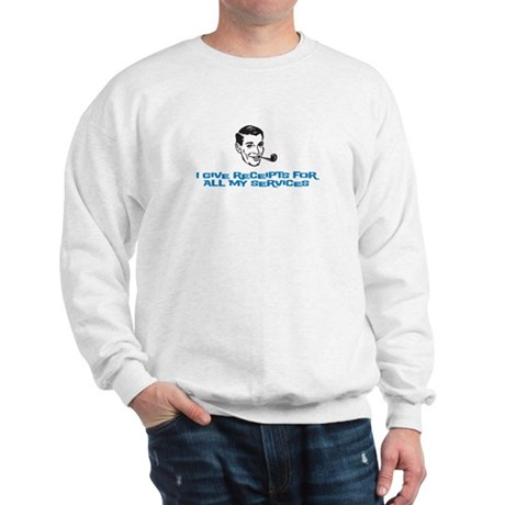 I give receipts (men) Sweatshirt