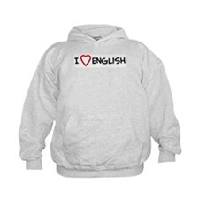 I Love English Hoodie