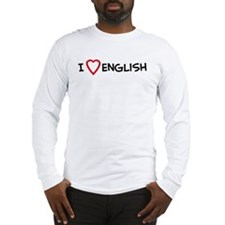 I Love English Long Sleeve T-Shirt