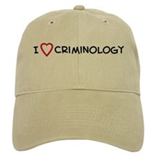 I Love Criminology Baseball Cap