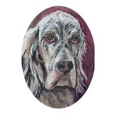 Ornament (Oval), English Setter, 'Cobi'