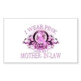 I Wear Pink for my Mother In Law (floral) Decal