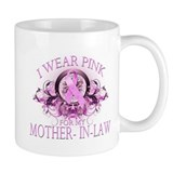 I Wear Pink for my Mother In Law (floral) Mug