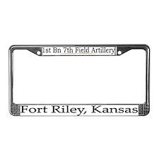 1st Bn 7th Field Artillery License Plate Frame