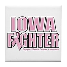 Iowa Breast Cancer Fighter Tile Coaster