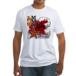 Blood in, Blood out MMA Fitted T-Shirt