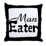 Man Eater Throw Pillow
