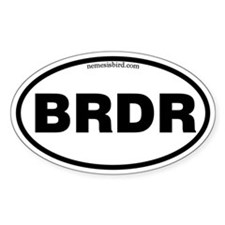 Birder Oval Decal