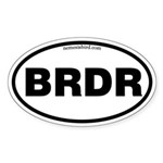 Birder Oval Sticker