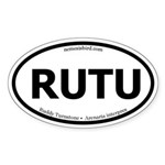 Ruddy Turnstone Oval Sticker