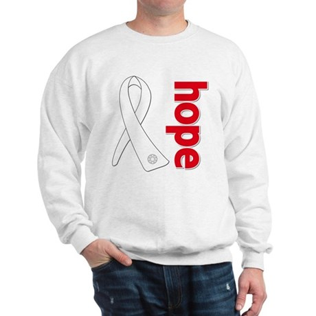 Hope Ribbon Lung Cancer Sweatshirt