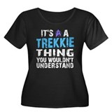 Trekkie Thing Blue Women's Plus Size Scoop Neck Da