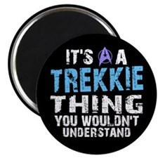 Trekkie Thing Blue Magnet