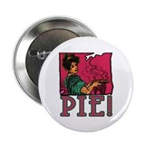 "Pie with Vintage Art 2.25"" Button (100 pack)"