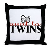"""Aunt to Twins"" Throw Pillow"