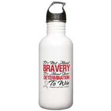 Bravery Lung Cancer Water Bottle