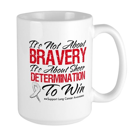 Bravery Lung Cancer Large Mug
