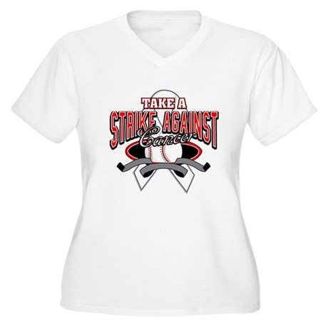 Take a Strike Lung Cancer Women's Plus Size V-Neck
