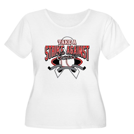 Take a Strike Lung Cancer Women's Plus Size Scoop 