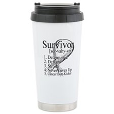 Lung Cancer Survivor Ceramic Travel Mug