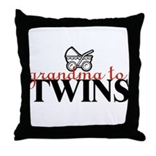 Grandma to Twins Throw Pillow