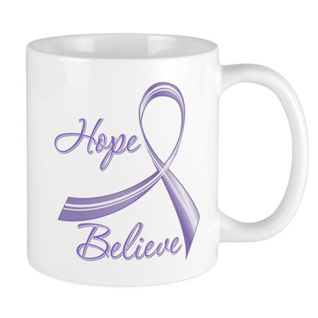 Hope Believe Hodgkin's Mug