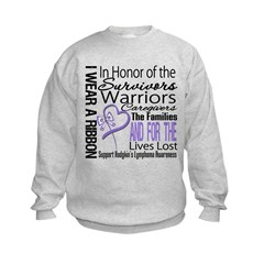 Ribbon Tribute Hodgkin's Kids Sweatshirt