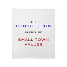 Constitution Values Throw Blanket