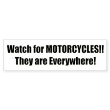 Watch for Motorcycles: Bumper Sticker