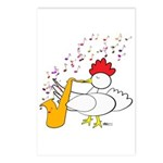 Cocky Sax Player Postcards (Package of 8)