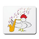 Cocky Sax Player Mousepad