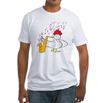 Cocky Sax Player Fitted T-Shirt