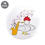 "Cocky Sax Player 3.5"" Button (10 pack)"